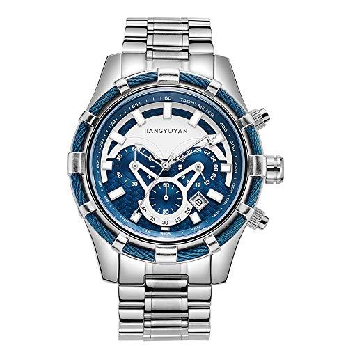Astarsport 163603 - Reloj de pulsera analógico de cuarzo para hombre, acero inoxidable