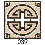 Yubingqin 15 unids/Set 8/10/15/20cm Mármado WaterJet de parquet baldosas Diagonal Pegatina de Pared baño Cocina decoración de Pared azulejo PVC Arte Mural (Color : CZ039, Size : 20cmX20cmX15pcs)