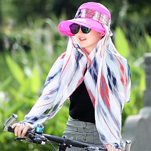 YANGFEIFEI-MZ Zomermuts outdoor opvouwbare anti UV Fietshelm/zonnehelm/gezichtsmasker/Hoed
