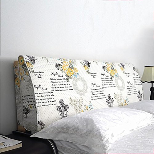 QIANDA Linnebädd Ryggstöd Placering Stödkudde kudde med amerikanska graffiti, 6 färger 8 storlekar tillgängliga (Color : 1#, Size : 150 * 50 * 12cm)