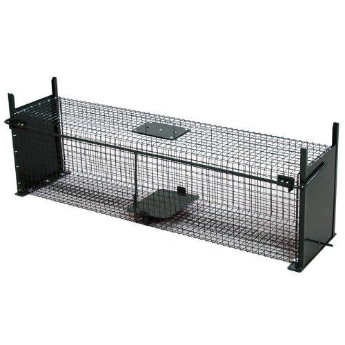 Moorland Safe 5007 -Trampa para Animales Vivos - Martas, Gatos Zorros - 100x25x25cm - Alambre 2 Entradas