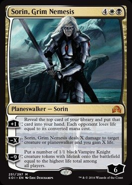 Magic: the Gathering - Sorin, Grim Nemesis (251/297) - Shadows Over Innistrad by Magic: the Gathering