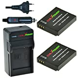 ChiliPower DMW-BCM13 DMW-BCM13E DMW-BCM13PP Kit Comprenant 2 Batteries + Chargeur...
