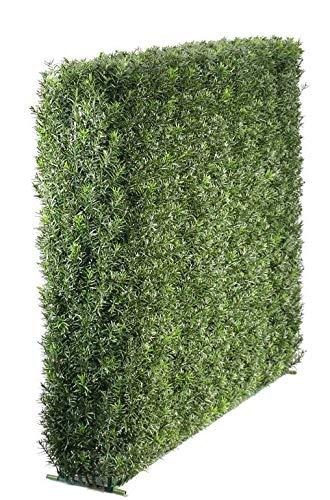 artplants.de Set de 2 x Panel de ocultación de tejo Artificial FANNO, Verde, 100x20x80cm - Pack de setos de Hojas - Mallas de ocultacion