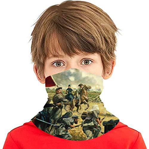 SYDIYIWL pintura al óleo americana guerra civil multi cara cubierta bandana cuello polaina pasamontañas cabeza abrigo para adolescentes