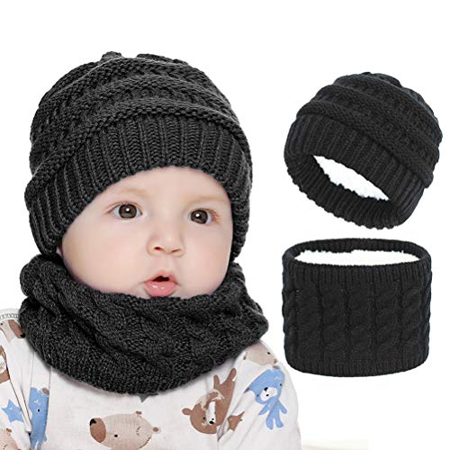 shenruifa Bonnet d'hiver tendance 2021 pour enfants, bonnet et écharpe pour bébé, pour activités de plein air