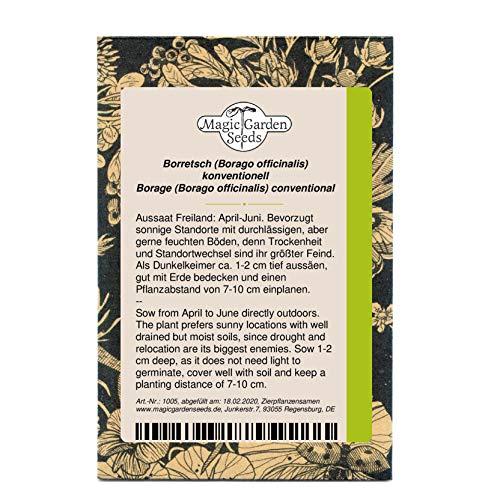 Borretsch (Borago officinalis) 50 Samen Gurkenkraut Blauhimmelstern Wohlgemutsblume