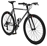Retrospec Bicycles Mantra-7 Urban Commuter Bicycle, Graphite/Black, 49cm/Small