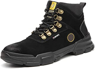 Dr. Martin Boots High-top leather safety shoes anti-smashing anti-stab safety shoes warm and wear-resistant protective shoes simple non-slip ankle boots thick bottom casual boots