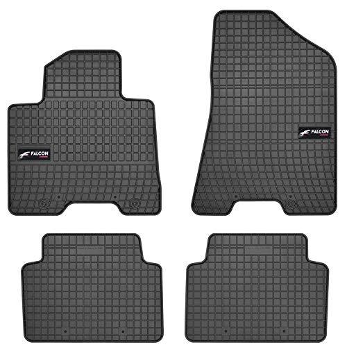 DBS Gummifußmatte Auto - nach Maß- Autofußmatten - 4-teilig - hochwertiger Gummi - geruchslos - Anti Rutsch - erhöhte Ränder - 1765888