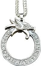 SBRTL Mitología Nórdica Collar Grifo Vikingo Navia Rune Dragon Colgante Colgante Hombre Amuleto Cadena Hueso Serpiente