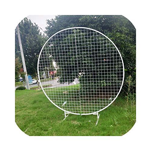 ijzer cirkel mesh boog bruiloft achtergrond mesh krans plank verjaardag partij ring frame voor ballon ijzer cirkel rooster bruiloft boog, diameter 2 Meter, rond wit gaas