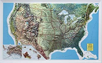 U.S. Relief Map, 34? X 21?, Rand