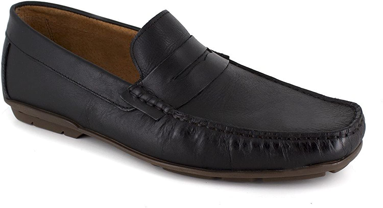 J.Bradford Loafer Black Leather JB-Detail