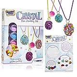 KreativeKraft Kit Manualidades Niños para Crear Joyas, Incluye Cuentas para Collares de Piedras Preciosas, Regalos Creativos para Niñas y Adolescentes 6+