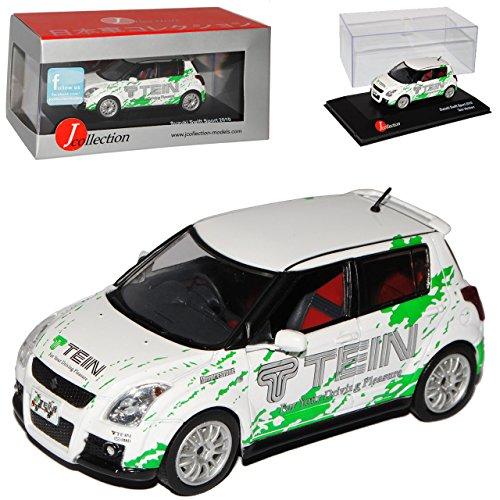 J-Collection Suzuki Swift MZ/EZ Weiss TEIN Version 5 Türer 2005-2010 1/43 Modell Auto mit individiuellem Wunschkennzeichen