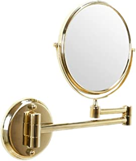 LED Illuminated Makeup Mirror - Two-Sided Vanity Mirror with Normal and 3X Magnification 360 Degrees Swivel Cosmetics Mirror for Bathroom