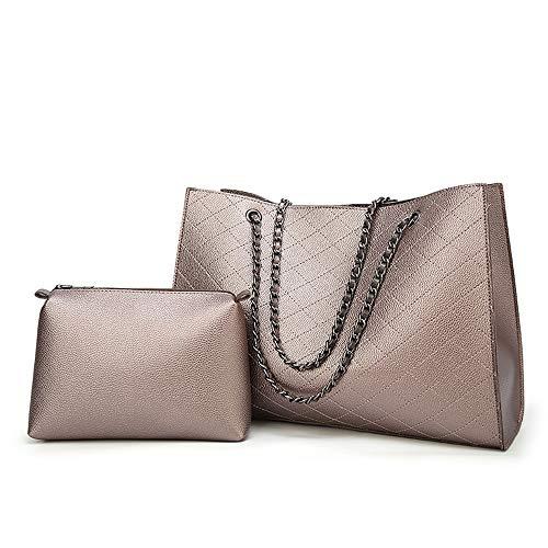 ZFLL handtas voor dames, van PU-leer, handtas, schoudertas van Valigie & Borse, goudkleurig
