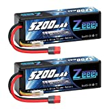 Zeee 3S Lipo Battery 11.1V 5200mAh 60C with Deans T Plug Hardcase Battery for RC Car Boat Truck Helicopter Airplane Racing Models(2 Pack)