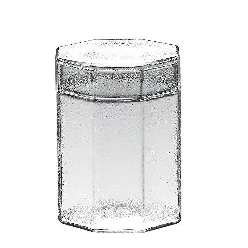 Koffieblik bewaardoos voor koekjes thee, koffie en suikerpotjes vintage glas