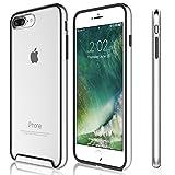 KHOMO Funda iPhone 8 Plus, iPhone 7 Plus Carcasa Transparente Triple Protección con Borde Bumper Case de Colores Antichoque para el Nuevo Apple iPhone 8 Plus - Plateado
