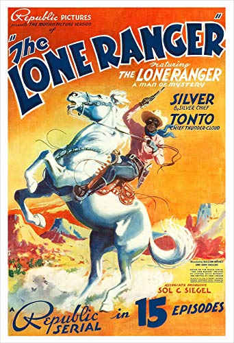 The Lone Ranger - Republic Pictures Serial - Movie Poster Print by delovely Arts