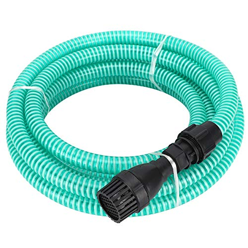 Saugschlauch für Wasserpumpe, Gartenschlauch mit Filter, PVC mit Anschluss für Haus und Garten