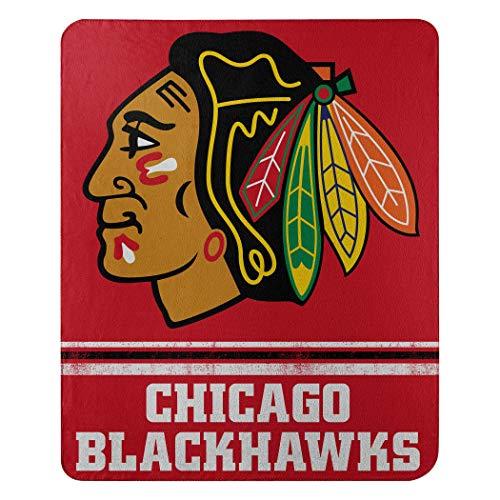 NHL Fade Away Fleece Decke 152 x 127 cm, rot