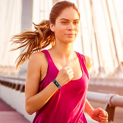 Compatible with Fitbit Charge 4 Bands/Fitbit Charge 3 Bands for Women Men, Breathable with Air Holes Replacement…