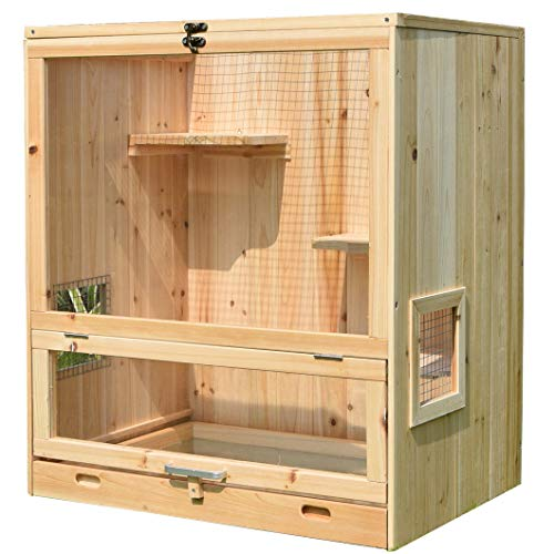 Aluora Wooden Indoor Chinchilla Cage