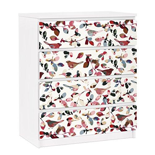 Apalis Vinilo Adhesivo para Muebles IKEA - Malm Dresser 4xDrawers - Look Closer, Größe:4 Mal 20cm x 80cm