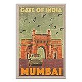 Mumbai Gateway Of India Vintage Reiseposter Skyline