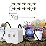 iPřiro Houseplants Automatic Watering System,Automated Watering Device with 30-Day Programmable Timer and 5V USB Charging Cable, for 10 Potted Plants Indoor