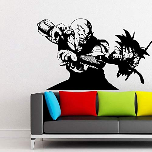 supmsds Vinyl Wandtattoo -, DBZ Anime Wandkunst Aufkleber Manga 67x42cm