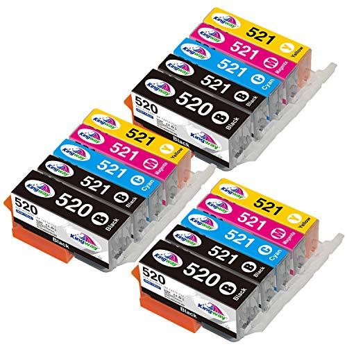 Kingway 520XL 521XL - Cartuchos de tinta compatibles con Canon Pixma MP550, MP540, MP560, MP620, MP620B, MP630, MP640, MX860, MX870, iP3600, iP4600, iP4700 15 unidades. )