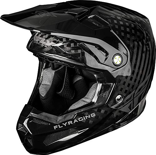 Fly Racing Formula, Casco da Motocross. Unisex-Adulto, Carbone, x-large