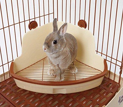 ドギーマン『ウサギの固定式コーナートイレLサイズ』