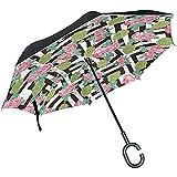 Parapluie inversé Parapluie Pliant inversé Coupe-Vent pour bière Artisanale Double Couche pour Voiture,...
