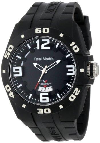 Viceroy 432851-55 Reloj Deportivo del Real Madrid de plástico Negro con Fecha de Goma
