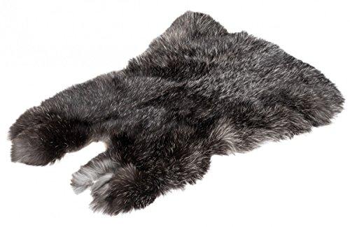 NaDeco Kaninchenfell Hasenfell schwarz Silber Dekofell Naturfell