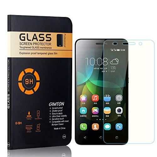 GIMTON Displayschutzfolie für Huawei Honor 4C, 9H Härte, Blasenfrei, Anti Öl, Ultra Dünn Kratzfest Schutzfolie aus Gehärtetem Glas für Huawei Honor 4C, 4 Stück