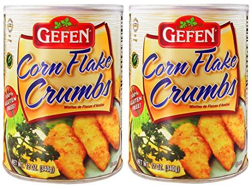 Gefen Gluten Free Corn Flake Crumbs, 12oz (2 Resealable containers) - Total of 1.5 Pounds