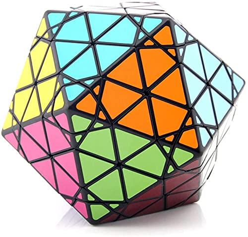 Rompecabezas de tambor Cubo de velocidad Cubo mágico Icosaedro Cubo Profesión Rápido Suave Girar Sólido Durable Sin Pegatinas Juegos 3D Regalos Juguetes para Niños Adultos Baifantastic