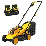 AchiForce Cordless Lawn Mower, 13-Inch 40 V Brushless Lawn Mower, 5 Mowing Heights, 8 Gallon Grass Bag, 2 x 4 Ah Batteries and Charger Included