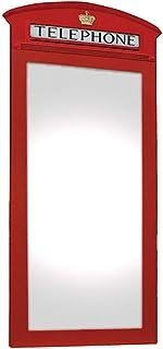 Espelho London Cabine Telephone Kapos Vermelho