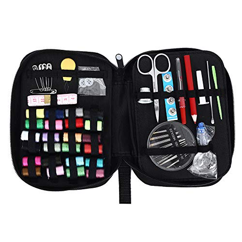 Bolange Travel Sewing Kit, 105pcs DIY Premium Sewing Supplies, Mini Sewing Kit with Mending and Sewing Needles Scissors Thimble Thread Tape Measure etc, for Home Travel & Emergency