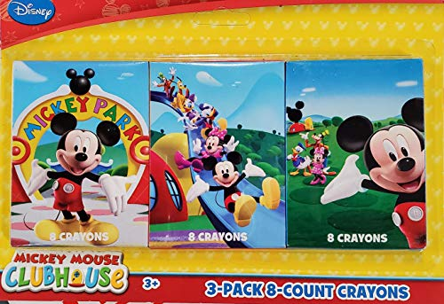 Crayons - 3 Packs of 8 Crayons (Mickey Mouse)
