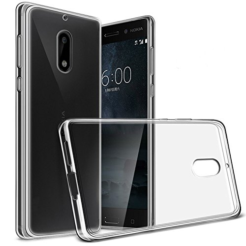 Yiakeng Nokia 6 Case, Nature TPU Soft Cover Crystal Case Clear Skin Soft Case Slim Case for Nokia6 5.5' (Clear)