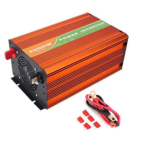 Solar Wechselrichter, 3000W Hochfrequenz-Sinus-Solar-Wechselrichter Auto Haushaltsgerät Solar Wechselrichter Mit LCD-Bildschirm 220V(48V)