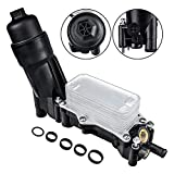 Engine Oil Cooler Filter Housing Adapter Compatible with 2014-2017 Jeep Wrangler Grand Cherokee Dodge Avenger Challenger Charger Durango Caravan Journey Chrysler 200 300 Town & Country Ram 3.6L